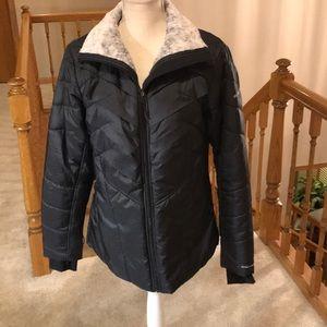 Black Columbia ski jacket.